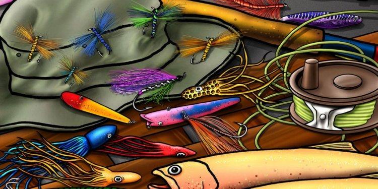 Fishing Equipments Cartoon