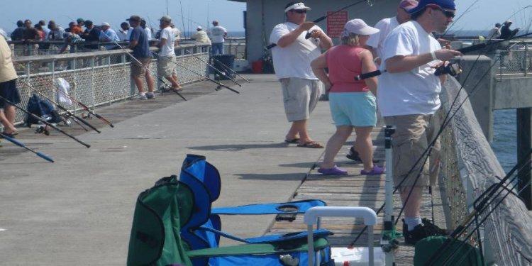 The piers around