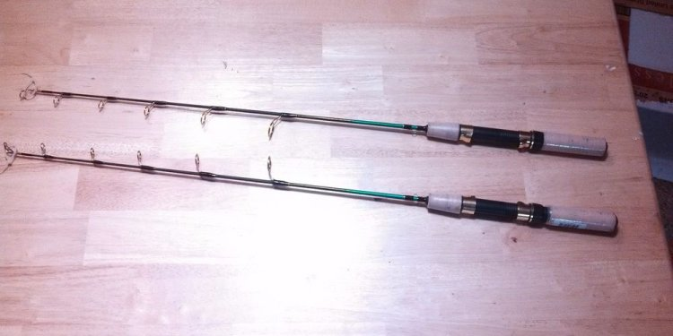 Homemade Ice Fishing Rods