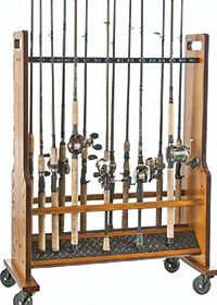 Rod racks maintain your rods organized and safe from tangling while kept in the home.