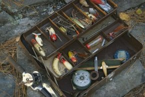 vintage tackle box antique fishing products